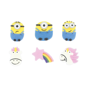 Culpitt Handmade Sugar Decorations - Despicable Me Collection (Pack of 81)