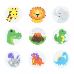 Culpitt Printed Sugar Edible Toppers - Animal Friends Collection - 38mm (Pack of 144)