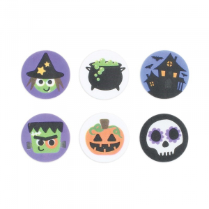Culpitt Printed Sugar Edible Toppers - Halloween Collection - 38mm (Pack of 144)