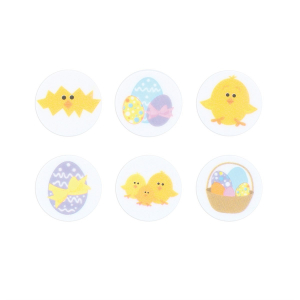 Culpitt Printed Sugar Decorations - Easter Collection (Box of 144)