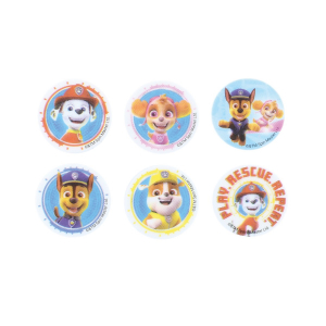 Culpitt Printed Sugar Edible Toppers - PAW Patrol Collection - 38mm (Pack of 144)