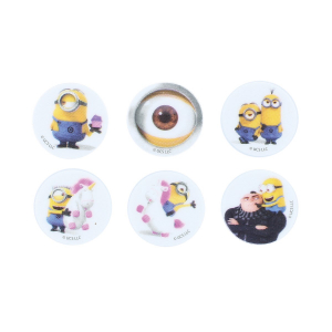 Culpitt Printed Sugar Edible Toppers - Minions Collection - 38mm (Pack of 144)