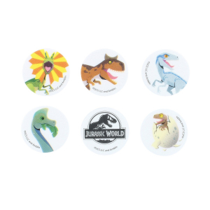 Culpitt Printed Sugar Edible Toppers - Jurassic World Collection - 38mm (Pack of 144)