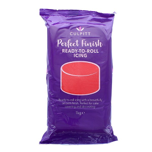 Culpitt Perfect Finish Ready To Roll Icing - Red (6 x 1kg)