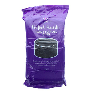 Culpitt Perfect Finish Ready To Roll Icing - Black (1kg)