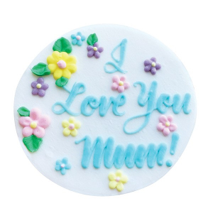 "Culpitt Sugar Decoration - ""I Love You Mum"" Plaque"