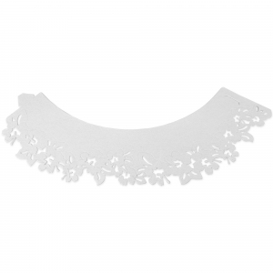 PME Decorative Lace Cupcake Wrappers - Flowers - White (Pack of 12)
