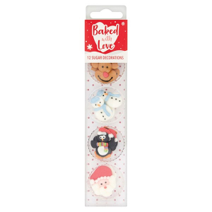 Baked With Love Sugar Decorations - Christmas Friends (Pack of 12)