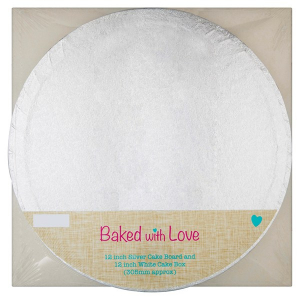 """Baked With Love Round Cake Board and Box - 12"""""""
