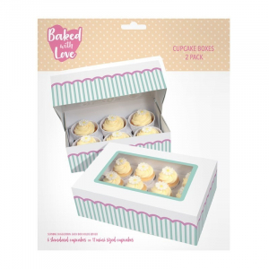 Baked With Love Dual Insert Cupcake Box (Pack of 2)