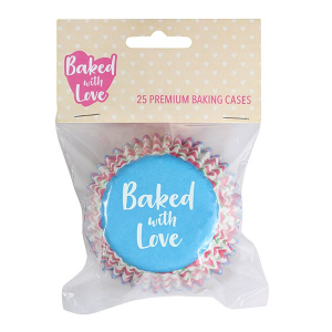 Baked With Love Premium Foil Baking Cases - Rosebuds (Pack of 25)