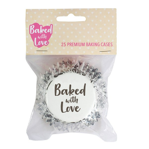 Baked With Love Premium Foil Baking Cases - Elegance (Pack of 25)