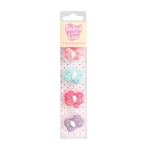 Baked With Love Sugar Decorations - Butterfly (Pack of 12)