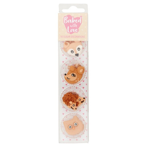 Baked With Love Sugar Decorations - Woodland Animal (Pack of 10)