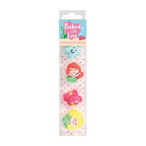 Baked With Love Sugar Decorations - Mermaid (Pack of 10)
