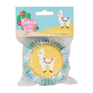 Baked With Love Premium Foil Baking Cases - Llama (Pack of 25)