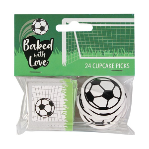 Baked With Love Cupcake Picks - Football (Pack of 24)
