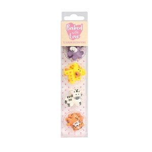 Baked With Love Sugar Decorations - Baby Jungle Animal (Pack of 12)