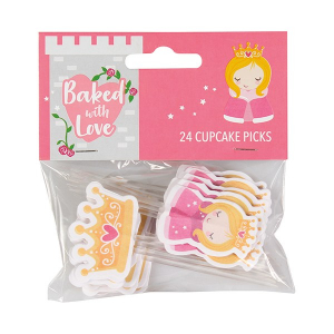 Baked With Love Cupcake Picks - Princess (Pack of 24)