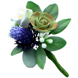 Culpitt Gum Paste Flower - Wild Thistle & Rose Spray