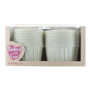 Baked With Love Baking Cups - Ivory (Pack of 24)