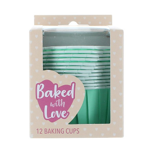 Baked With Love Baking Cups - Aqua (Pack of 12)