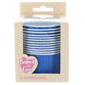 Baked With Love Baking Cups - Blue (Pack of 12)