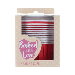 Baked With Love Baking Cups - Primary Red (Pack of 12)