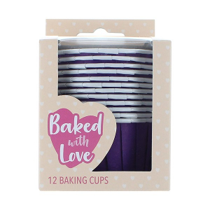 Baked With Love Baking Cups - Purple (Pack of 12)