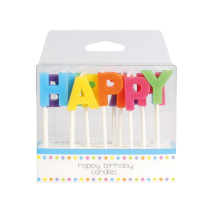 Baked With Love Birthday Candles - Happy Birthday (Pack of 13)