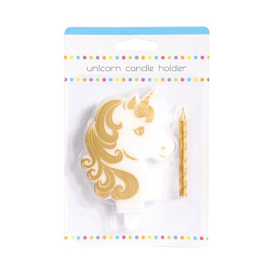Baked With Love Birthday Candle - Unicorn Set