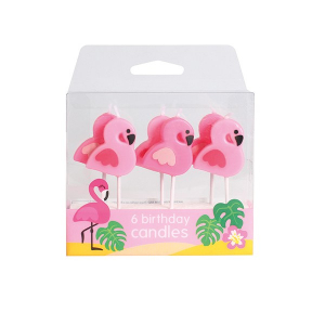 Baked With Love Birthday Candles - Flamingo (Pack of 6)