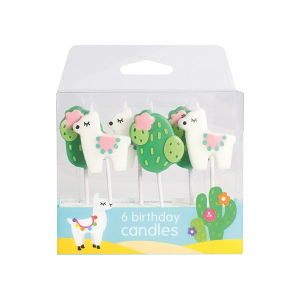 Baked With Love Birthday Candles - Llama & Cactus (Pack of 6)