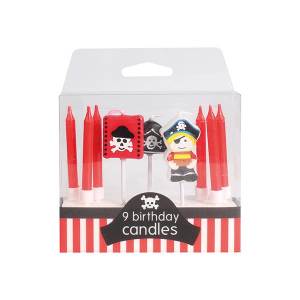 Baked With Love Birthday Candles - Pirate (Pack of 9)
