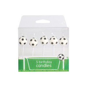 Baked With Love Birthday Candles - Football (Pack of 5)