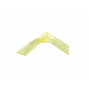 Doric Double Faced Woven Edge Satin Ribbon - Pale Yellow - 15mm x 25m