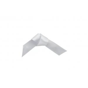 Doric Double Faced Woven Edge Satin Ribbon - Pale Silver - 15mm x 25m