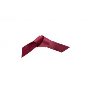 Doric Double Faced Woven Edge Satin Ribbon - Claret - 15mm x 25m