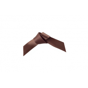 Doric Double Faced Woven Edge Satin Ribbon - Chocolate Brown - 15mm x 25m