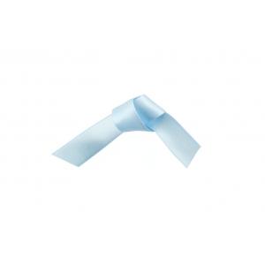 Doric Double Faced Woven Edge Satin Ribbon - Ice Blue - 15mm x 25m