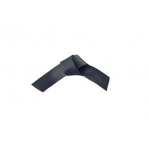 Doric Double Faced Woven Edge Satin Ribbon - Dark Grey - 15mm x 25m