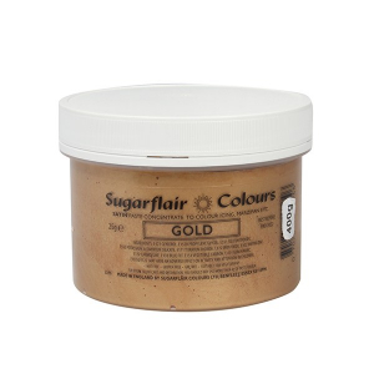 Sugarflair Satin Paste Concentrate - Bulk - Gold (400g)