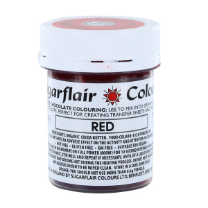 Sugarflair Chocolate Colouring - Red (35g)