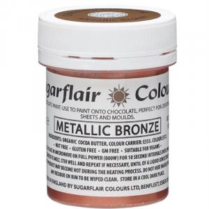 Sugarflair Chocolate Paint - Metallic Bronze (35g)