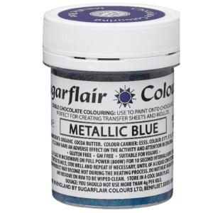 Sugarflair Chocolate Paint - Metallic Blue (35g)