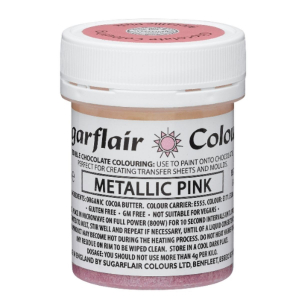 Sugarflair Chocolate Paint - Metallic Pink (35g)