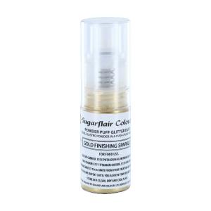 Sugarflair Powder Puff Glitter Pump Spray - Finishing Sparkle - Gold (10g)