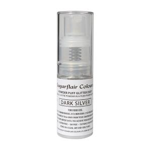 Sugarflair Powder Puff Glitter Pump Spray - Dark Silver (10g)