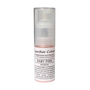 Sugarflair Powder Puff Glitter Pump Spray - Baby Pink (10g)