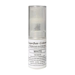 Sugarflair Powder Puff Glitter Pump Spray - White (10g)